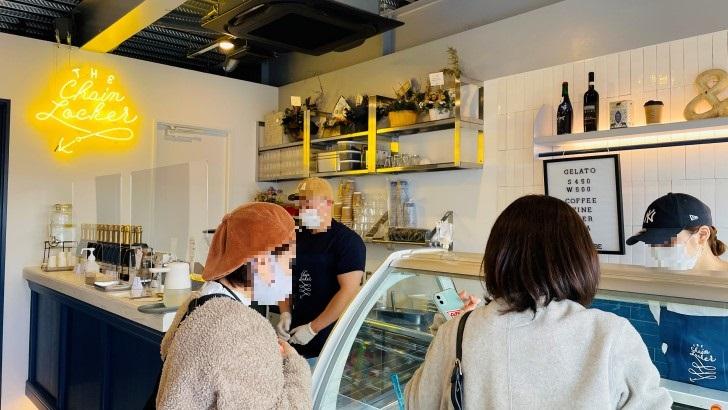 THE Chain Locker Coffee & Gelato Standの店内