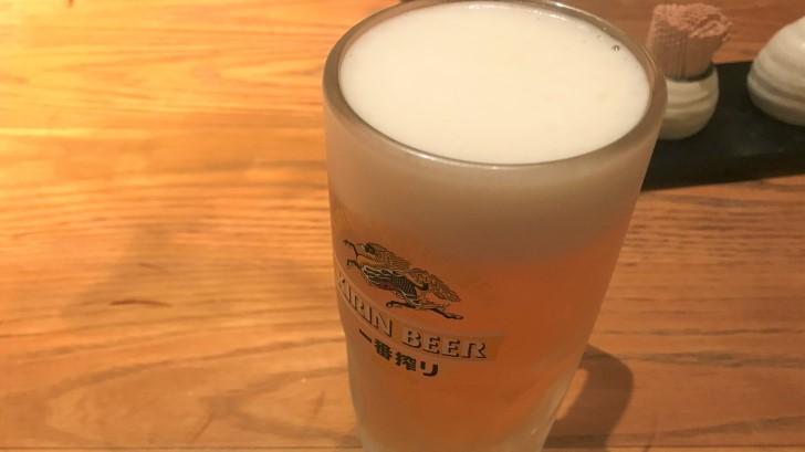 草乃家の生ビール