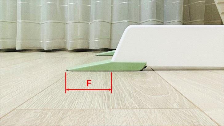ストッケ(STOKKE)のトリップトラップベビーセットの外観寸法3