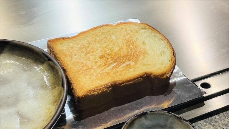 大井肉店本店レストランのトースト