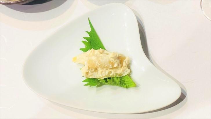 大井肉店本店レストランの前菜ホワイトアスパラ