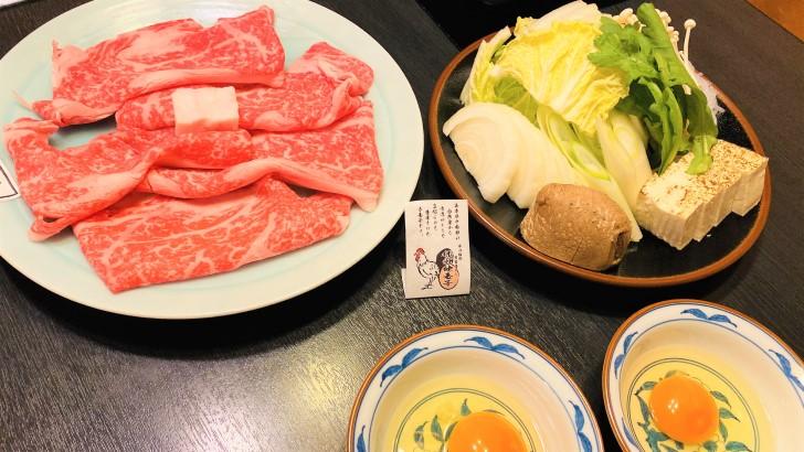 大井肉店本店レストランのすき焼き