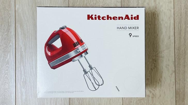 キッチンエイド/KitchenAidの9段階変速ハンドミキサーの外箱